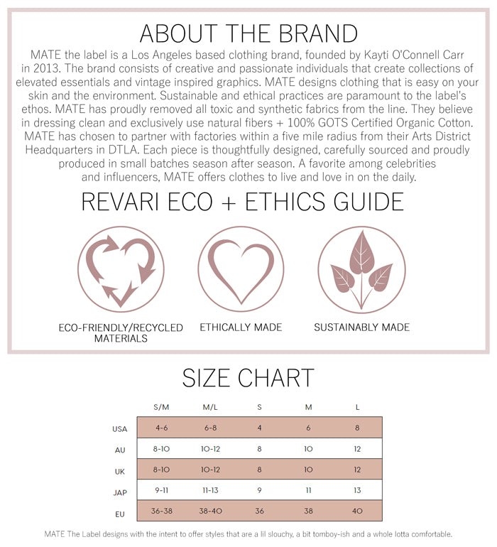 Mate The Label Eco and Ethics Guide