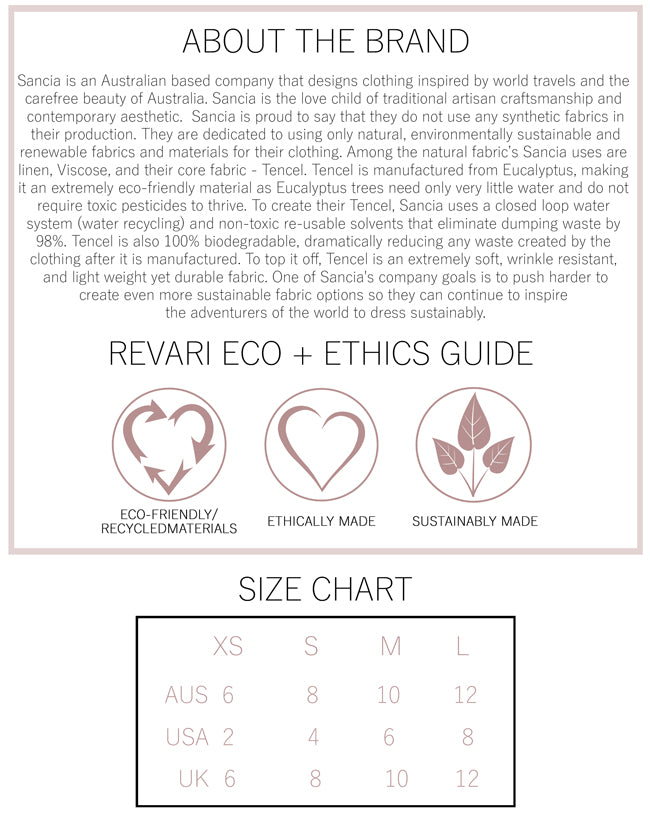 Sancia Eco and Ethics Guide