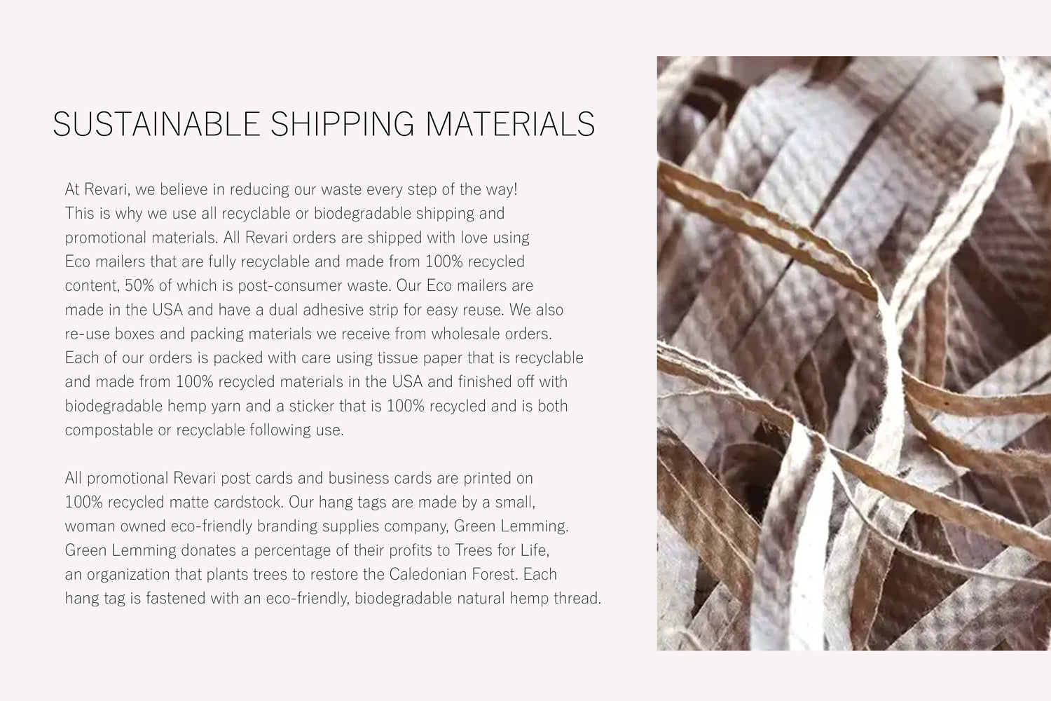 Sustainable Shipping Materials