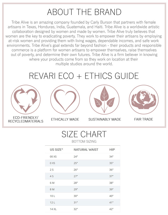 Tribe Alive Eco and Ethics Guide