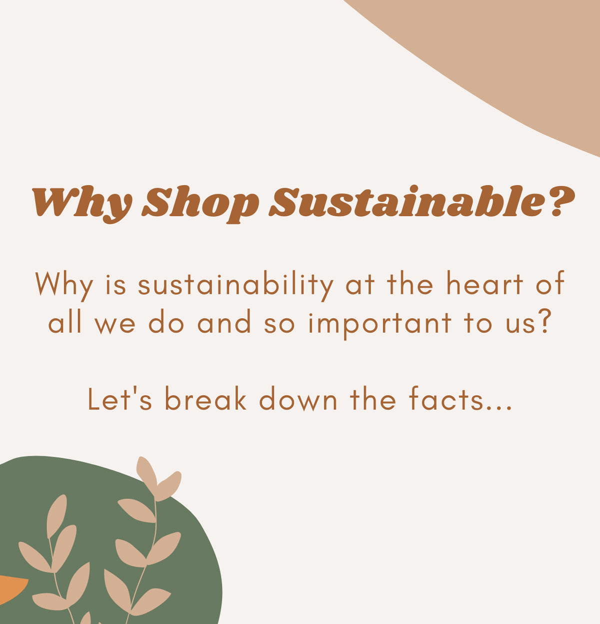 Why Shop Sustainable