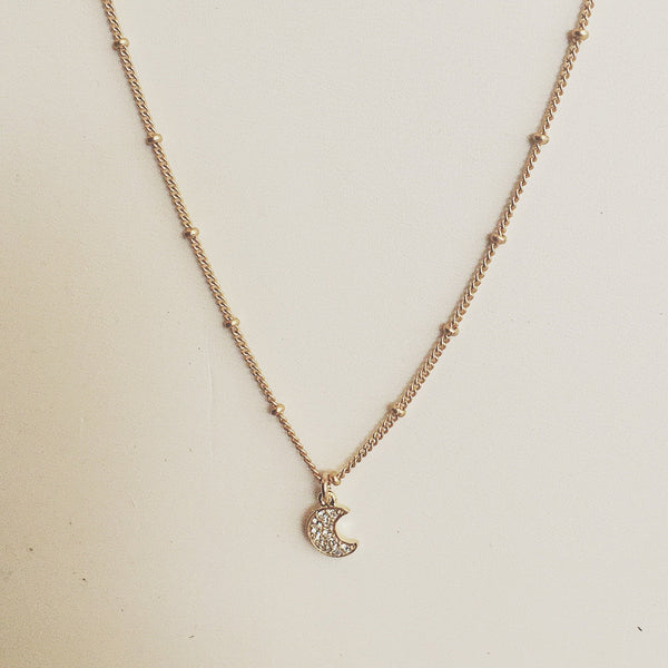 Moon Dainty Layering Necklace