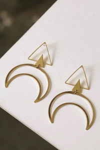 Eka Crescent Earrings