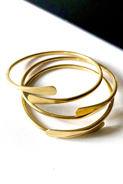 Brass Coil Bangle