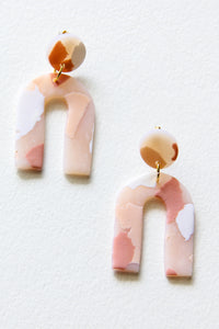 Blush Terrazzo Clay Earrings