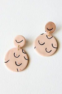 Nude Clay Breast Earrings