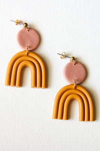 Ochre Astrid Clay Earrings