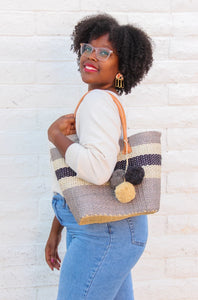 Grey Sisal Malibu Bag