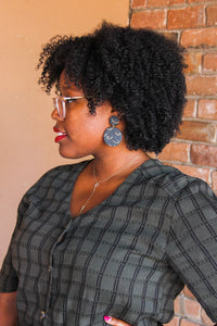 Black Clay Breast Earrings
