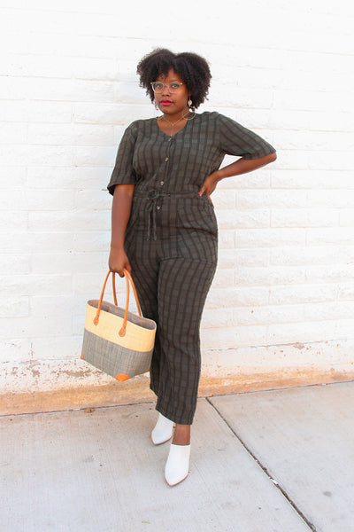 Hunter Plaid Remy Jumpsuit