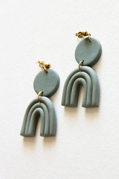 Mint Astrid Clay Earrings