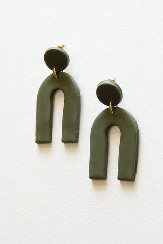 Fern Arc Clay Earrings
