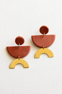 Rust James Lux Clay Earrings