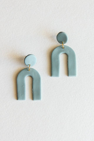 Succulent Arc Clay Earrings
