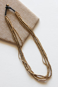 Jai Brass Layered Necklace