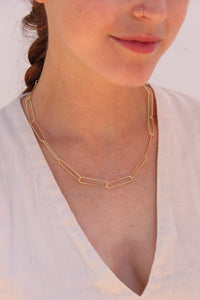 Dilia Paper Clip Chain Necklace