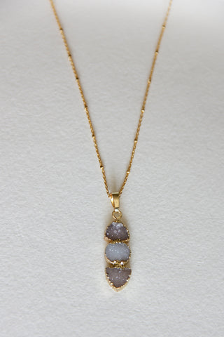 Tamala Crystal Druzy Necklace