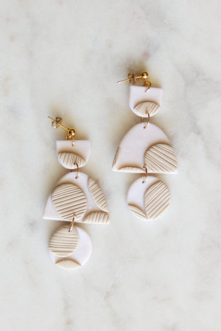 Milo Milk Clay Earrings