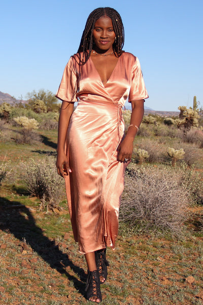 Blush Lola Wrap Dress