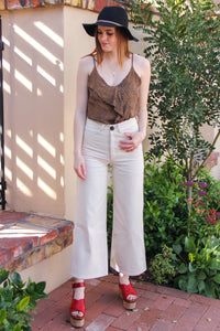 Cream Tribe High Rise Pant