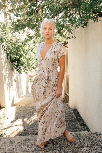 Isabella Wrap Maxi Dress