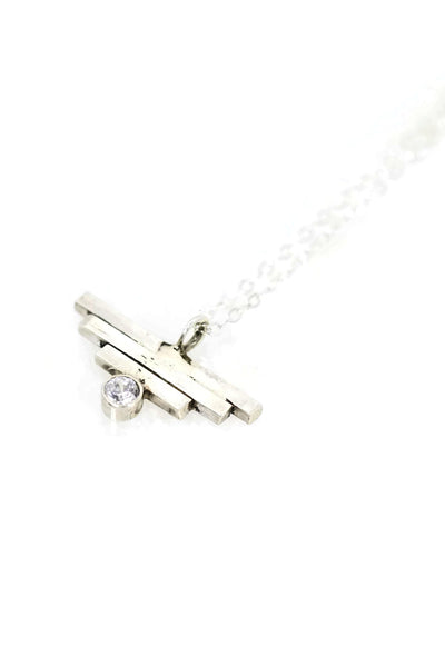 Silver Rise Above Necklace