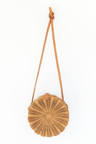 Round Natural Wicker Bali Bag