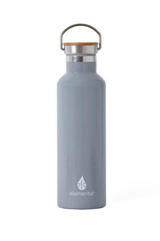Grey Stainless Steel Water Bottle