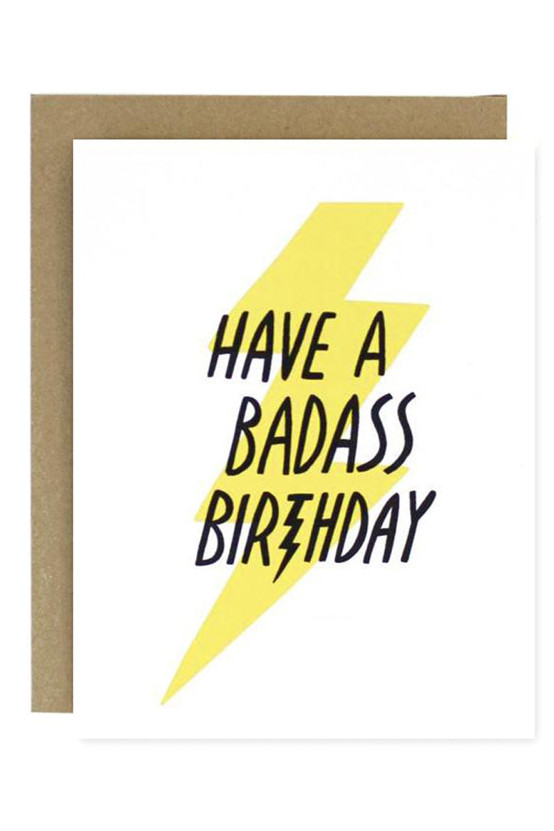 Badass Birthday Greeting Card