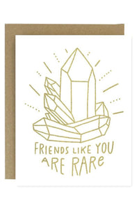 Friends Like You Crystal Greeting Card
