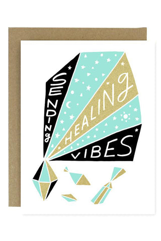 Healing Vibes Greeting Card