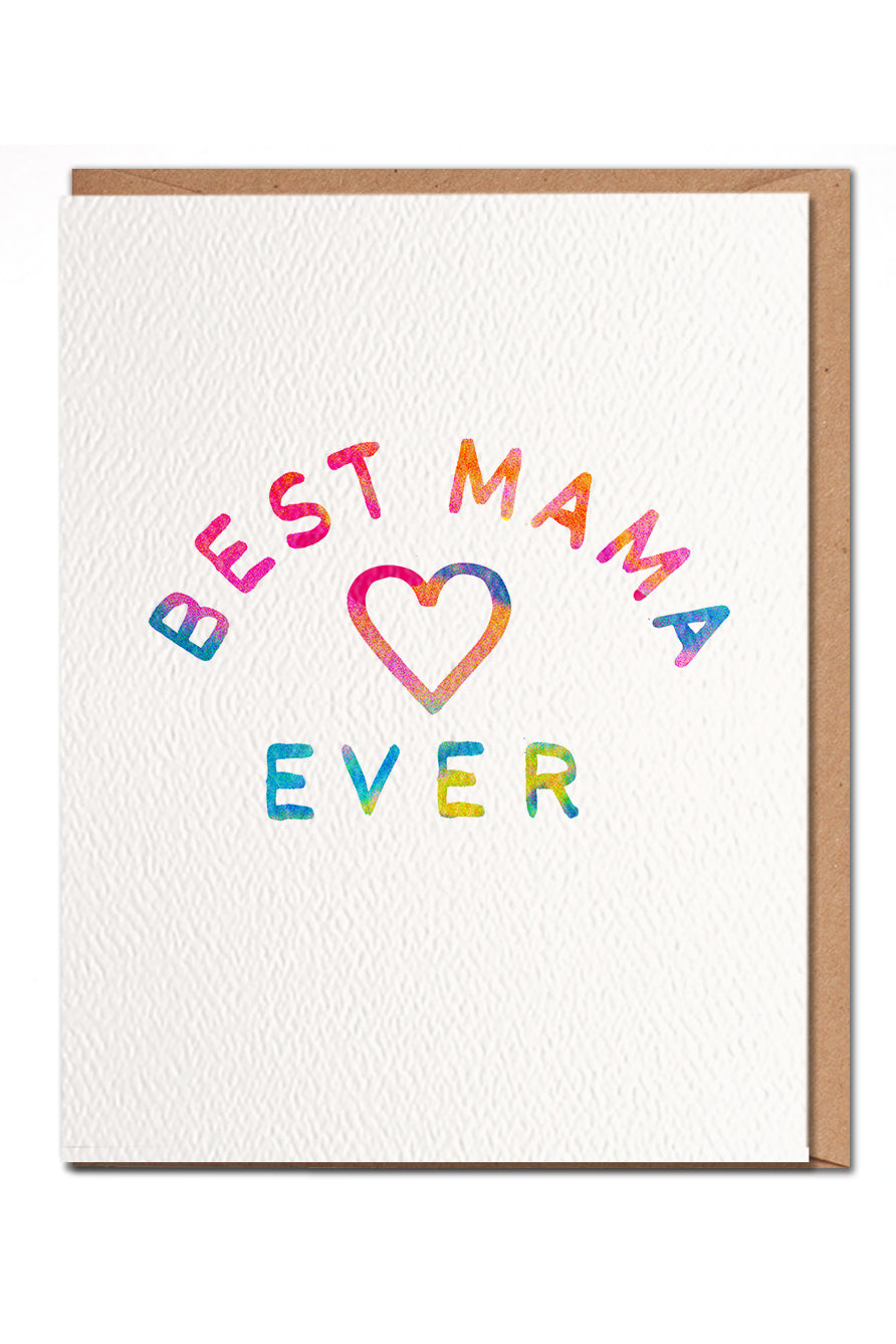 Best Mama Greeting Card