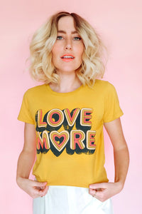 Mustard Love More Organic Cotton Tee