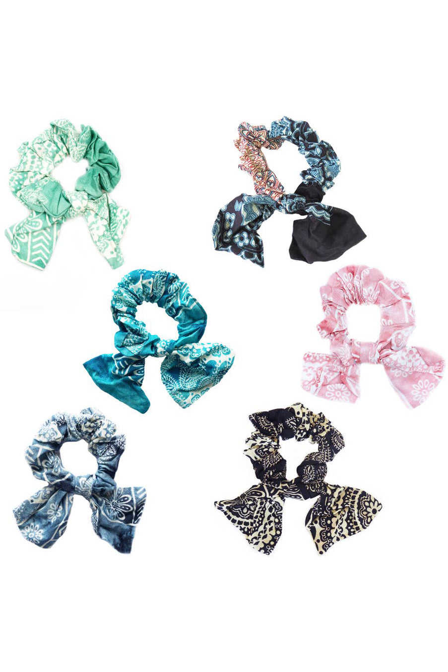 Upcycled Printed Bow Scrunchies