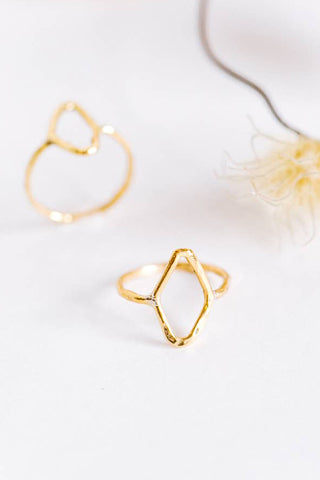 Brass Diamond Ring