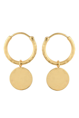 Margot Coin Hoop Earrings