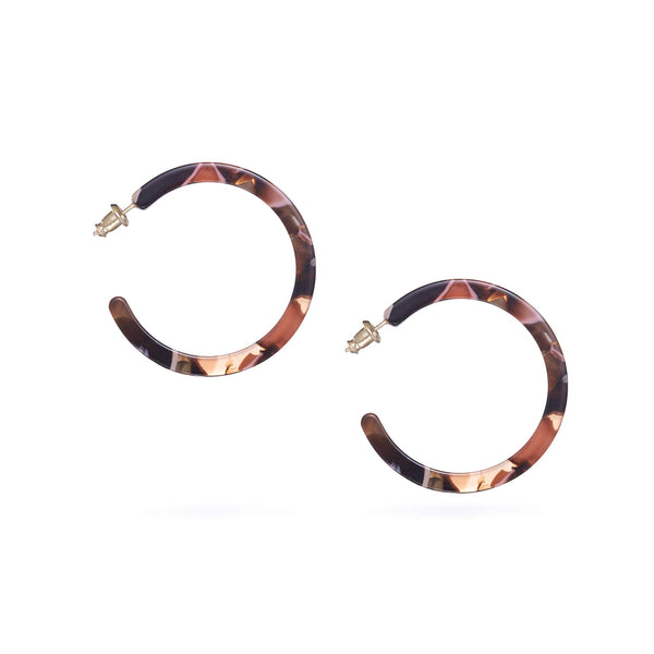 Rose Confetti Birdie Hoop Earrings