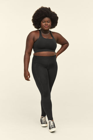 Black High Rise Pocket Leggings