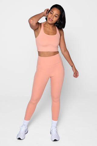 Sherbet High Rise Compressive Leggings - Cropped