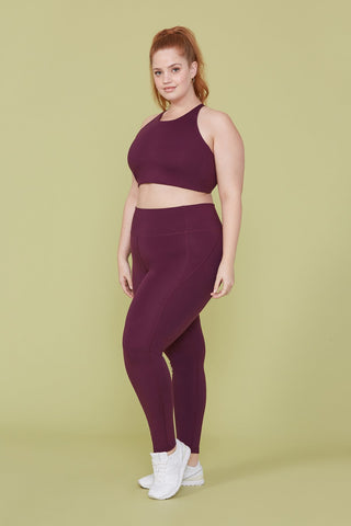 Plum High Rise Compressive Leggings