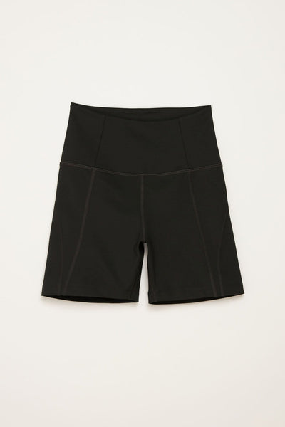 Black High Rise Run Shorts