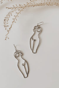 Silver Form Earrings