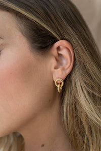 Gold Secured Earrings