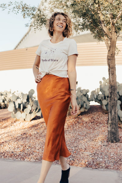 Rust Diana Skirt