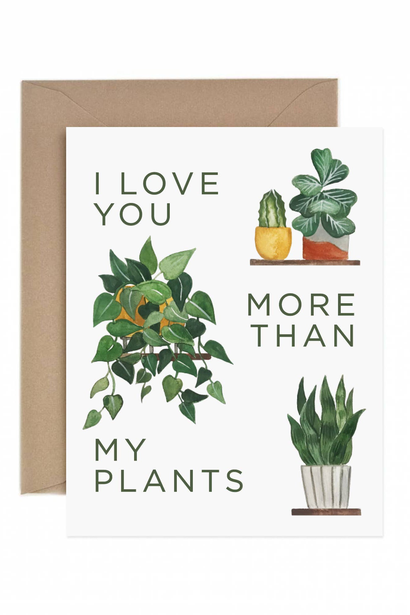 More Than My Plants Greeting Card