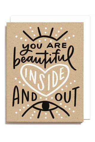 Beautiful Inside and Out Greeting Card