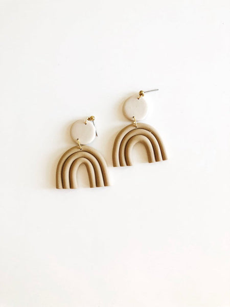 Sand Astrid Clay Earrings