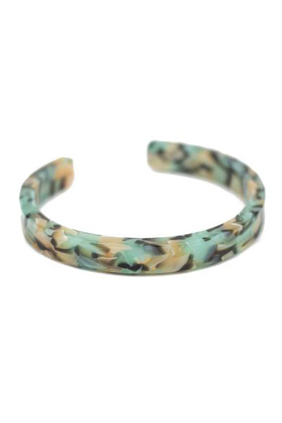 Teal Confetti Simple Cuff