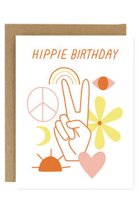 Hippie Birthday Greeting Card