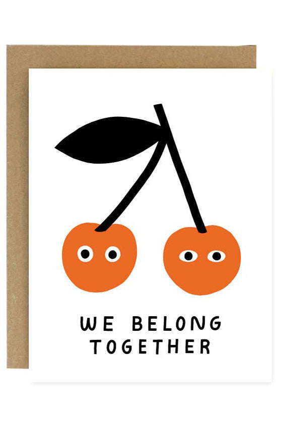 Belong Together Cherries Greeting Card
